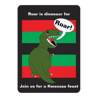 Kwanzaa Tyrannosaurus Rex Custom 13 Cm X 18 Cm Invitation Card