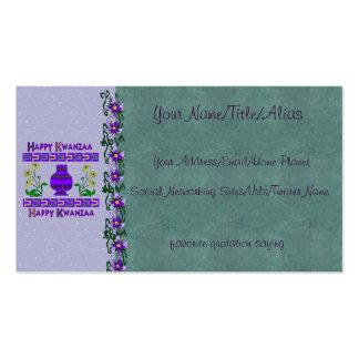 Kwanzaa Vase Business Card