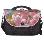 Kwanzan cherry in sunny day bags for laptop