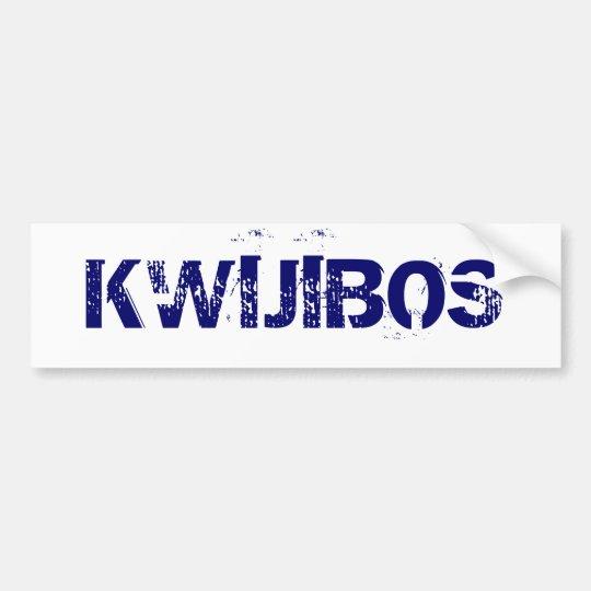 KWIJIBOS BUMPER STICKER