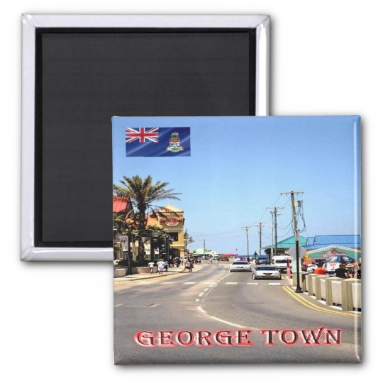 KY - Cayman Islands - George Town Main Street Square Magnet