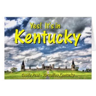 KYCA102.Castle Post - Versailles Ky. Card