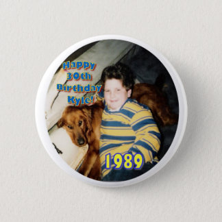 Kyle 1989 6 cm round badge