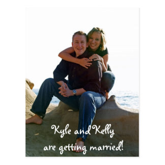 Kyle and Kelly are getting married! Postcard