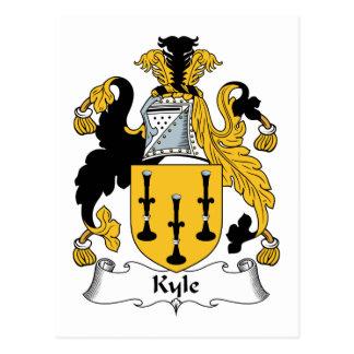 Kyle Family Crest Postcard