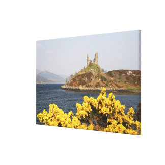 Kyleakin, Scotland. The ancient ruins of 2 Canvas Print