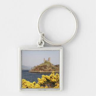 Kyleakin, Scotland. The ancient ruins of 2 Silver-Colored Square Key Ring