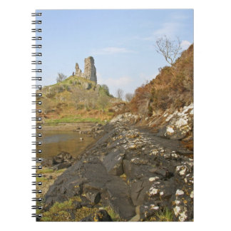Kyleakin, Scotland. The ancient ruins of Notebook
