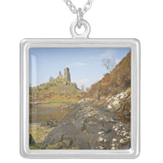 Kyleakin, Scotland. The ancient ruins of Silver Plated Necklace