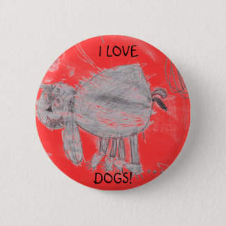 Kylee's picture, I LOVE, DOGS! 6 Cm Round Badge