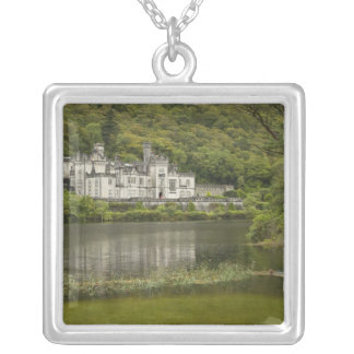 Kylemore Abbey, County Galway, Ireland, Silver Plated Necklace