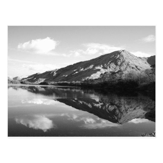 Kylemore Lake B&W Postcard