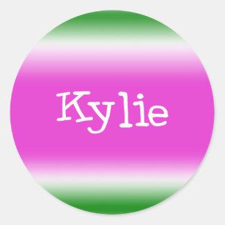 Kylie Classic Round Sticker