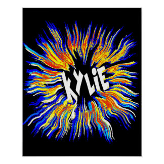 Kylie Name Art Poster