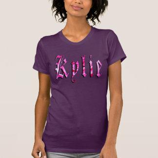 Kylie, Name, Logo, Ladies Aubergine T-shirt