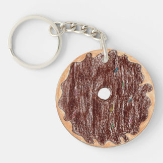 Kylie Single-Sided Round Acrylic Key Ring