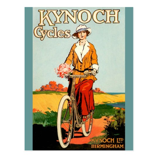 Kynoch Cycyles - Vintage Bicycle Poster Art Postcard