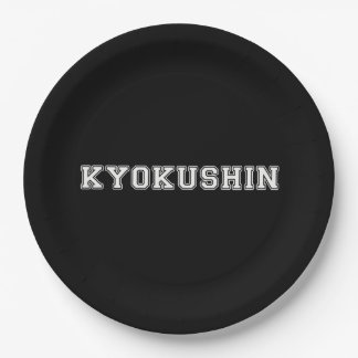 Kyokushin Karate 9 Inch Paper Plate