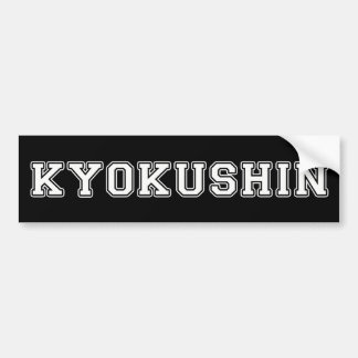 Kyokushin Karate Bumper Sticker