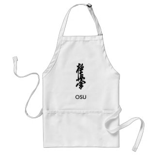Kyokushin Karate Japanese Kanji Apron OSU!