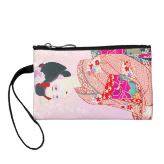 Kyoto Brocade Four Leaves - Spring japanese lady Coin Purses