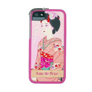 Kyoto Brocade, Four Leaves - Spring japanese lady iPhone 5 Cases