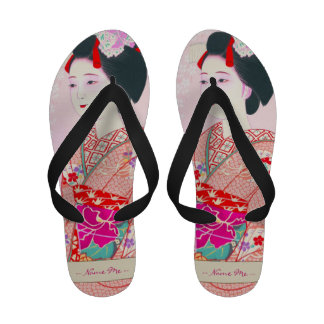 Kyoto Brocade Four Leaves - Spring japanese lady Sandals