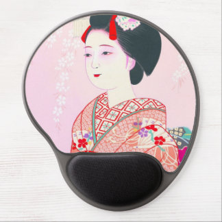 Kyoto Brocade Four Leaves - Spring japanese lady Gel Mousepad