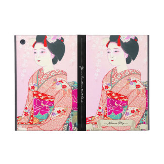 Kyoto Brocade, Four Leaves - Spring japanese lady iPad Mini Case