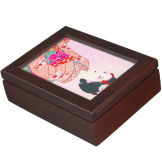 Kyoto Brocade Four Leaves - Spring japanese lady Keepsake Boxes