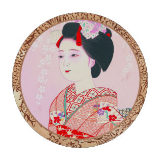 Kyoto Brocade Four Leaves - Spring japanese lady Poker Chips Set