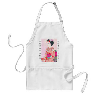 Kyoto Brocade, Four Leaves - Spring japanese lady Standard Apron