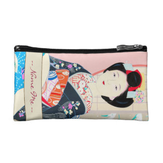 Kyoto Brocade, Four Leaves - Winter japanese lady Cosmetic Bags