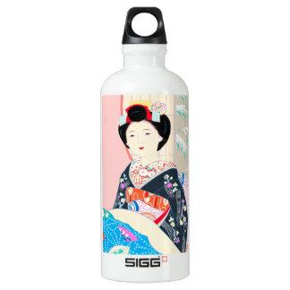 Kyoto Brocade, Four Leaves - Winter japanese lady SIGG Traveller 0.6L Water Bottle