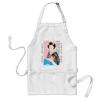 Kyoto Brocade, Four Leaves - Winter japanese lady Standard Apron