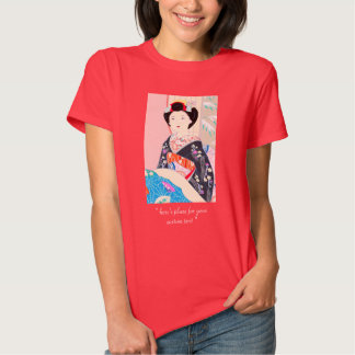 Kyoto Brocade, Four Leaves - Winter japanese lady Tshirt