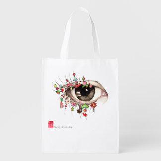 """""""Kyoto Eye"""" Design Reusable Shopping Bag"""