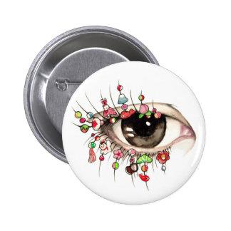 """Kyoto Eye"" Erica Ward Original Pin"
