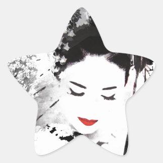 Kyoto Geisha Star Sticker
