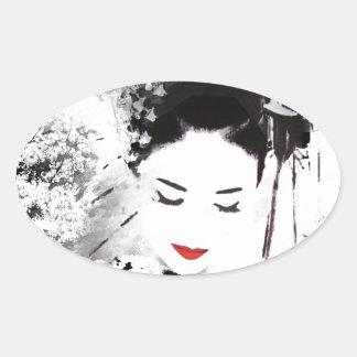 Kyoto Geisha Oval Sticker