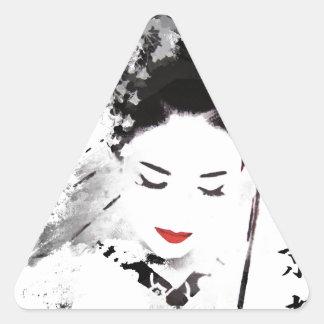 Kyoto Geisha Triangle Sticker