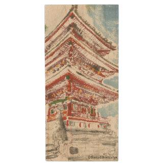 Kyoto Japan Temple Wooden USB Flashdrive Wood USB Flash Drive