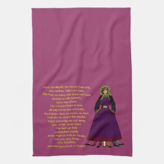 Kyra Sarakosti Lady Lent Lenten Kitchen Towel