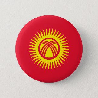 kyrgyzstan 6 cm round badge
