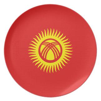 Kyrgyzstan Fisheye Flag Plate