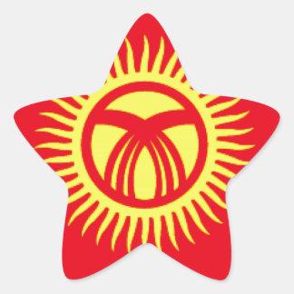 Kyrgyzstan Flag Star Stickers