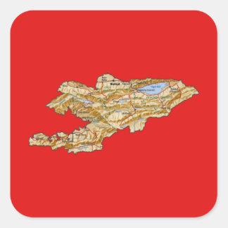Kyrgyzstan Map Sticker