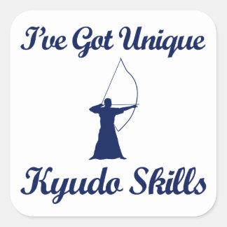 kyudo martial art designs square sticker