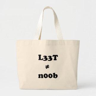 l33t leet n00b noob bags