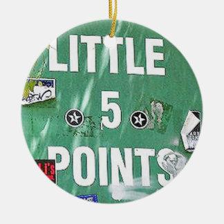 L5P. Little 5 Points, Atlanta, Georgia, Christmas Christmas Ornament